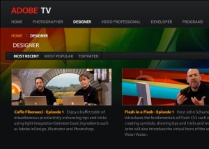 Adobe TV screenshot