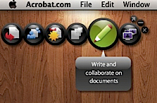 Acrobat.com AIR app desktop widget