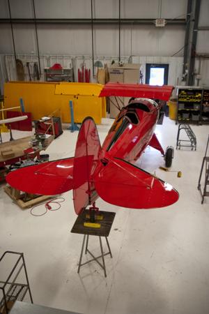 WACO biplane being built