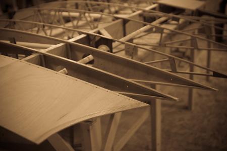WACO Aircraft internal wooden wing frame