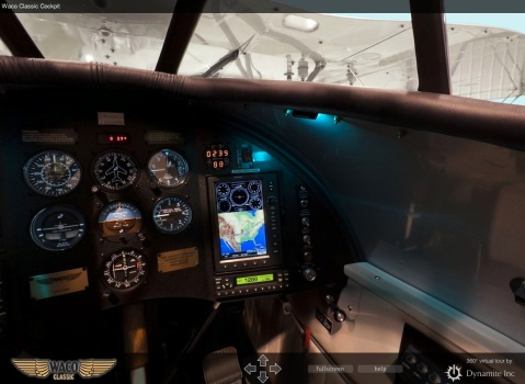 WACO biplane cockpit 360 panoramic screenshot